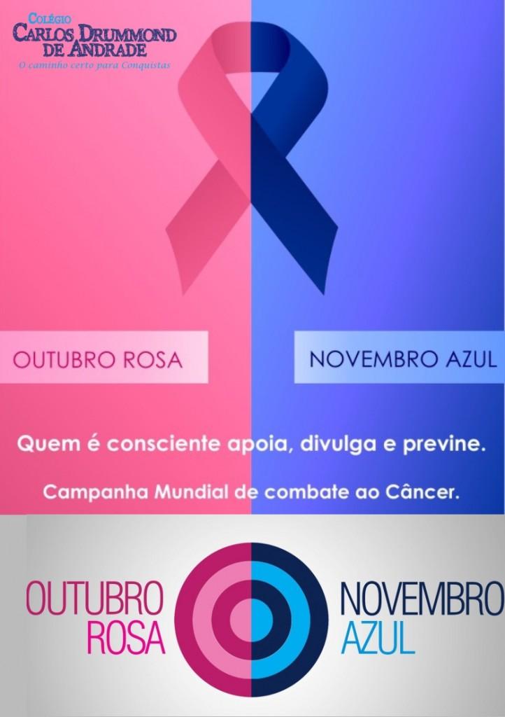 OUTUBRO ROSA E NOVEMBRO AZUL u2013 CCDA u2013 Colégio Carlos Drummond de Andrade -> Decoração Para Outubro Rosa E Novembro Azul