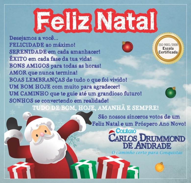FELIZ NATAL – CCDA – Colégio Carlos Drummond de Andrade.