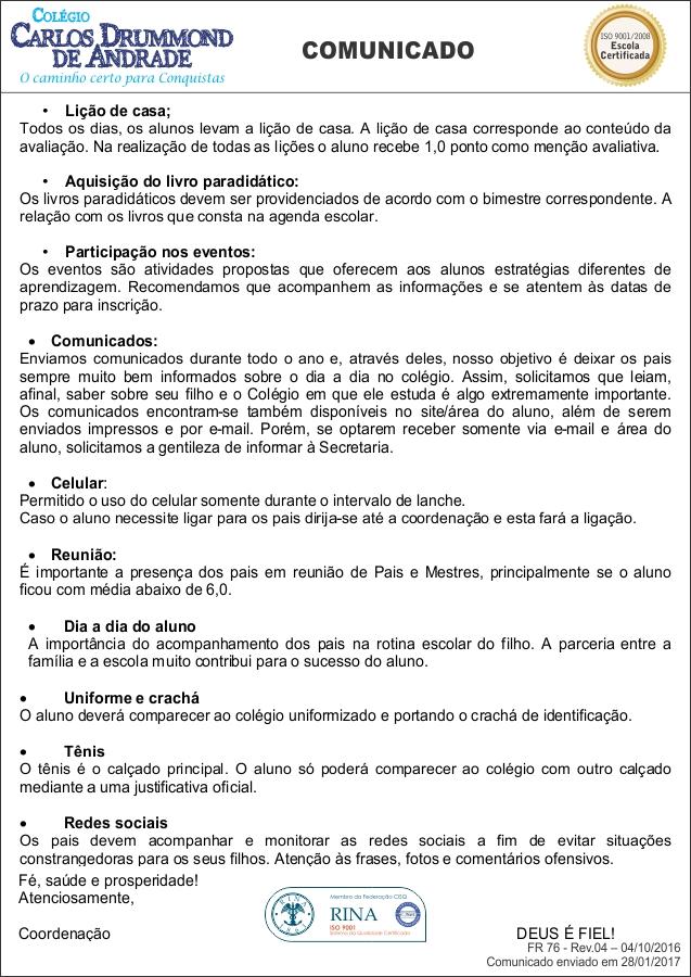 Reunião De Pais Efii E Médio Ccda Colégio Carlos Drummond De Andrade